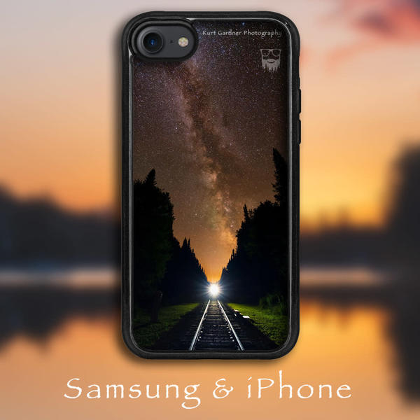 Milky Way Train Tracks Phone Case | Kurt Gardner Photogarphy
