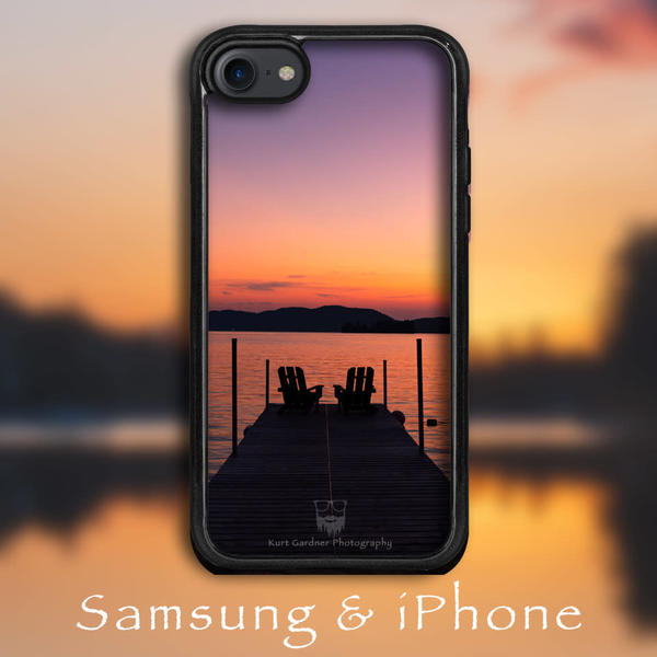 4th Lake Adk Chairs Phone Case | Kurt Gardner Photogarphy Gallery