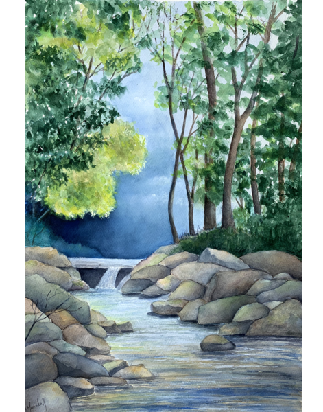 My Canada Creek II, Original Watercolor Painting
