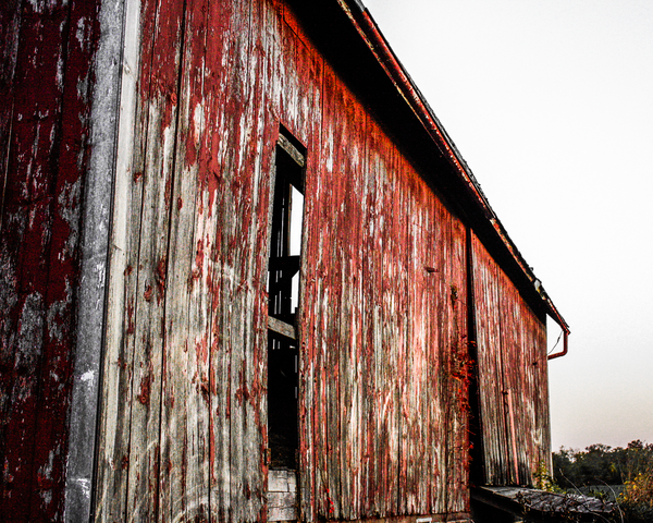 Red Rustic Barn Photography Art | Happy Hogtor Photography