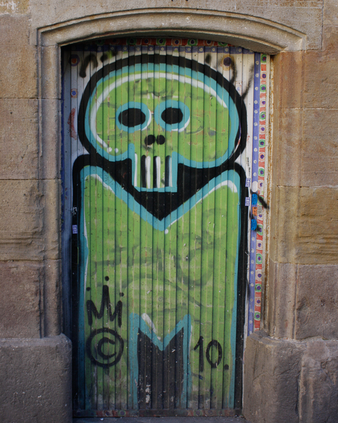 Green Graffiti In Barcelona Photography Art | Happy Hogtor Photography