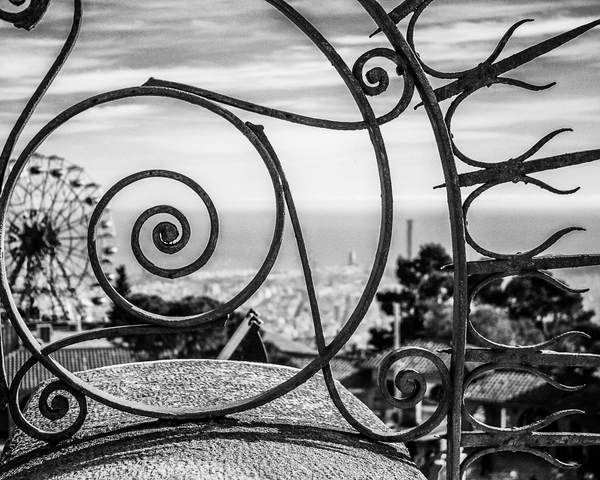 Tibidabo Spirals Bw Photography Art | Happy Hogtor Photography