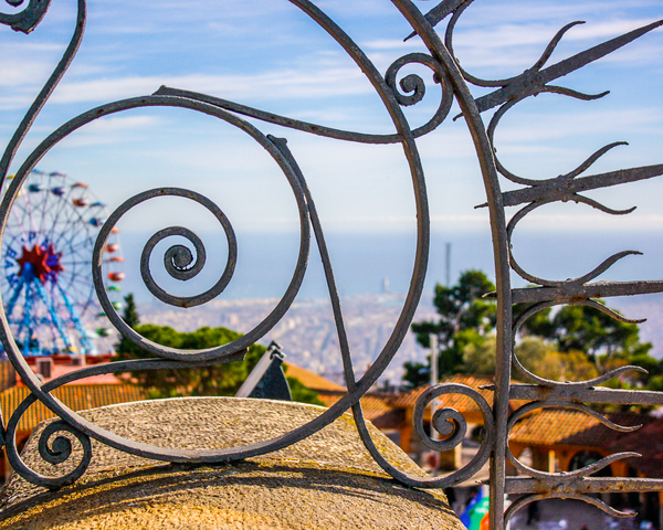 Tibidabo Spirals Photography Art | Happy Hogtor Photography