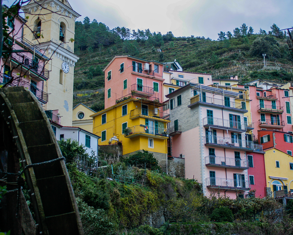 Manarola Waterwheel Photography Art | Happy Hogtor Photography