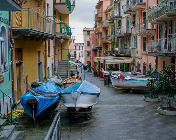 Streets Of Manarola Photography Art | Happy Hogtor Photography