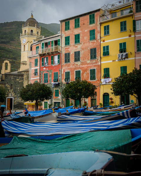 Boats In Monterosso Photography Art | Happy Hogtor Photography