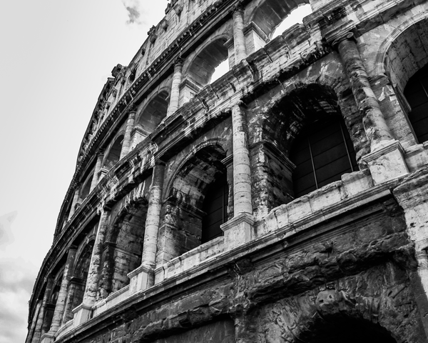 The Coliseum In Bw Photography Art | Happy Hogtor Photography
