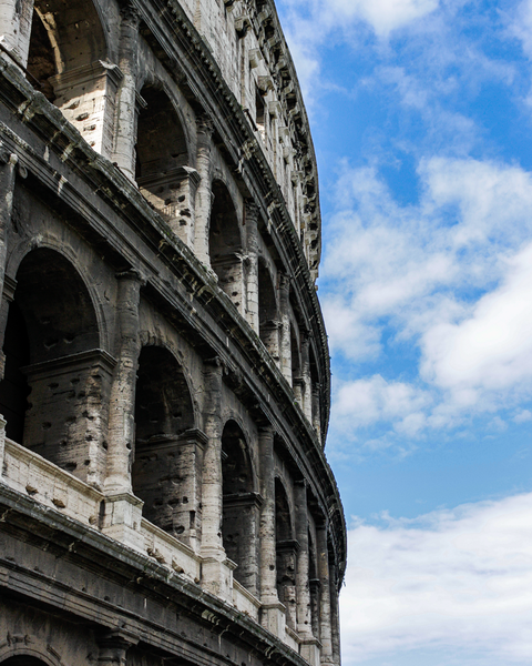 Blue Sky And The Coliseum Photography Art | Happy Hogtor Photography