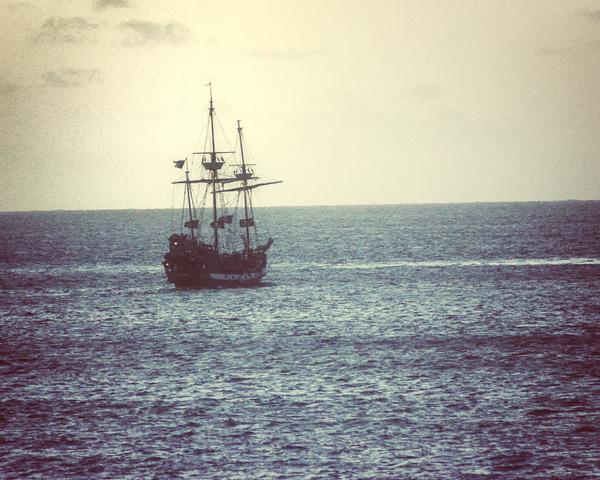 Tall Ship On The Caribbean Photography Art | Happy Hogtor Photography