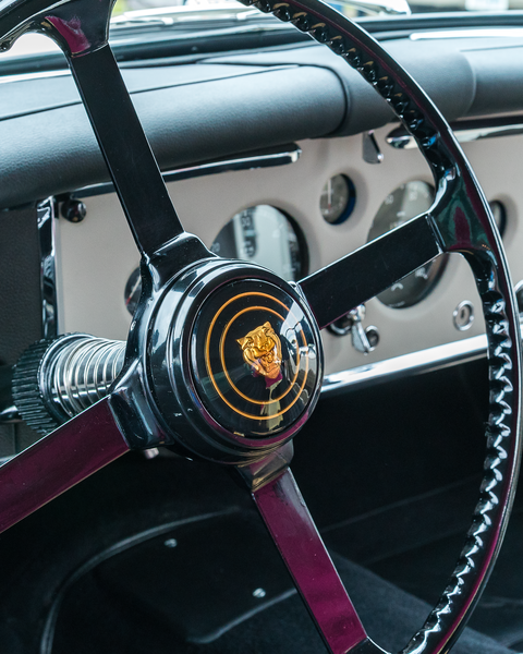 Xk150 Jaguar Steering Wheel Photography Art | Happy Hogtor Photography