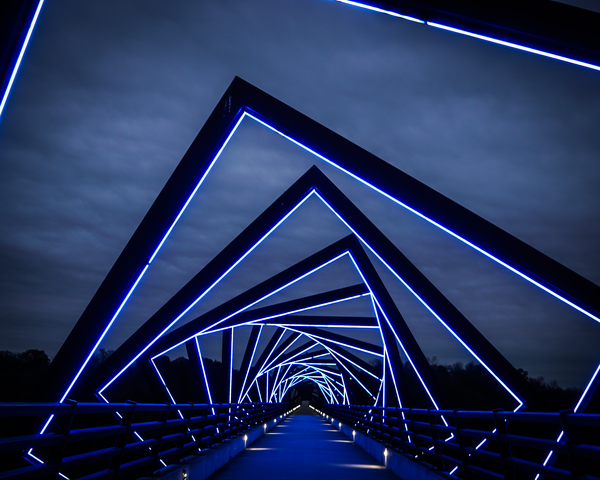 High Trestle Bridge Winter Sky H Photography Art | Happy Hogtor Photography