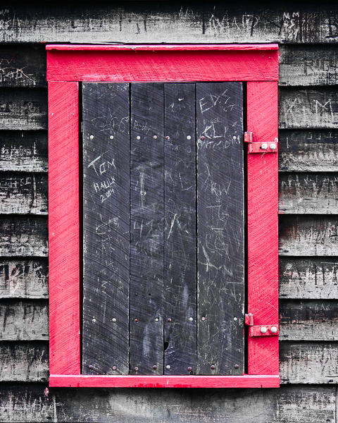 Red Wooden Window Photography Art | Happy Hogtor Photography