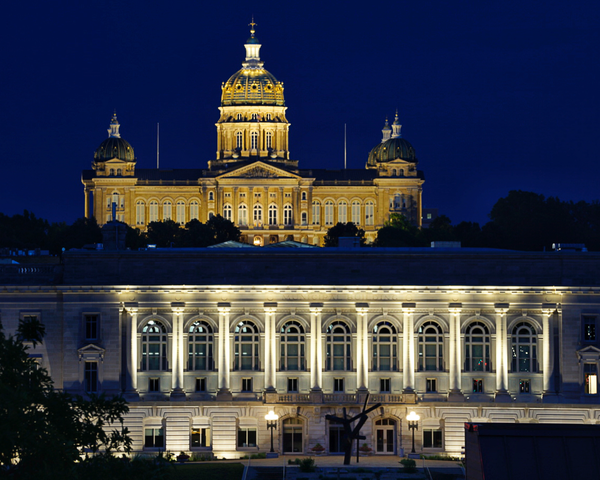 Des Moines City Hall And Iowa Capitol Photography Art | Happy Hogtor Photography