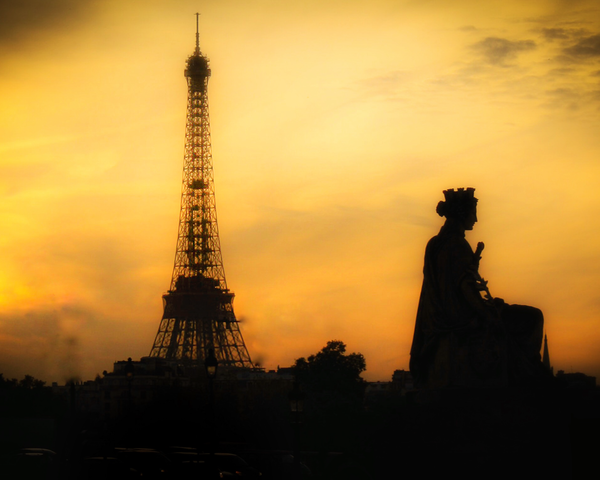 Golden Paris At Dusk Photography Art | Happy Hogtor Photography