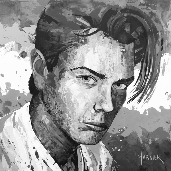 River Phoenix Black & White, Marnier Art, Painting, Prints
