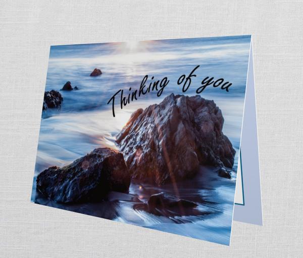 "Malibu ""Thinking Of  You"" Card (Set Of 10)   Tamea Travels"
