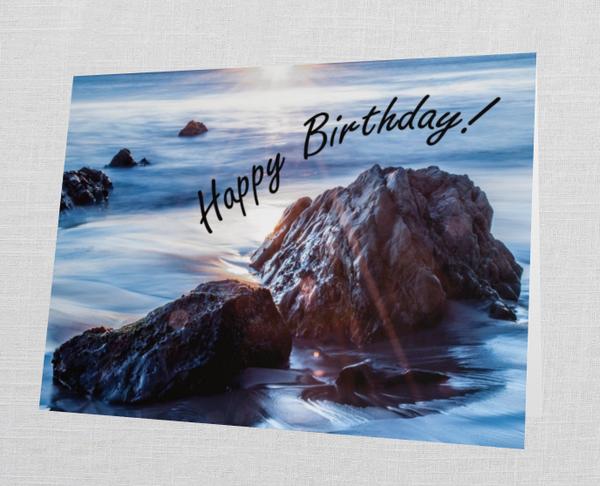 "Malibu ""Happy Birthday"" Card (Set Of 10)    Tamea Travels"