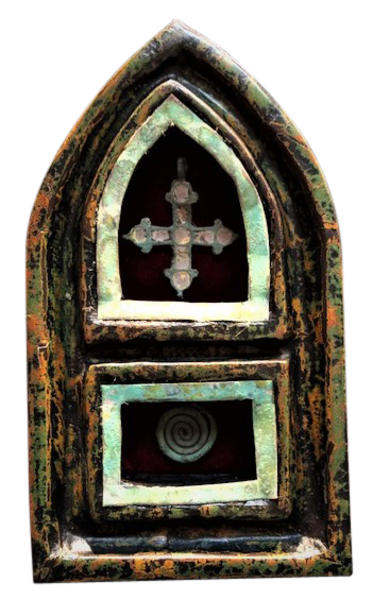 Eternal Life Spiral Reliquary Art | Sacred Structures
