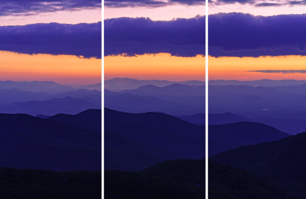 Craggy Mountain, North Carolina Triptych Limited Edition Print by McClean Photography