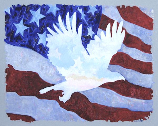 Eagle In Flag Art | terrycrump