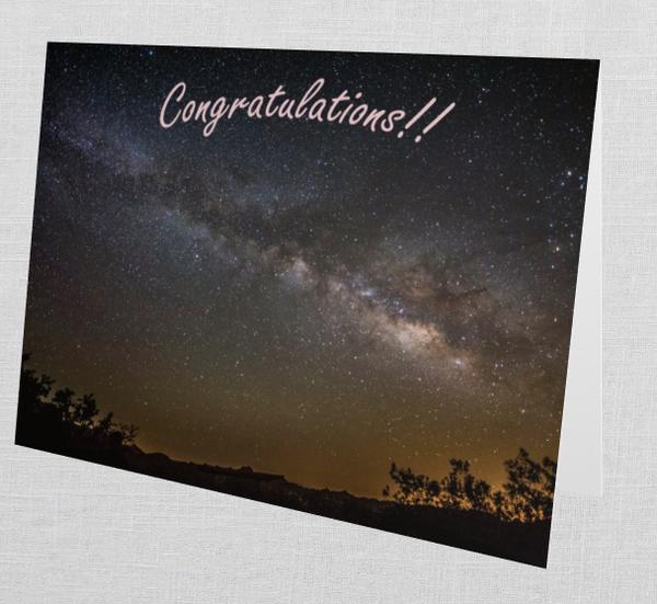 "Desert Skies ""Congratulations!"" Card (Set Of 10)    Tamea Travels"