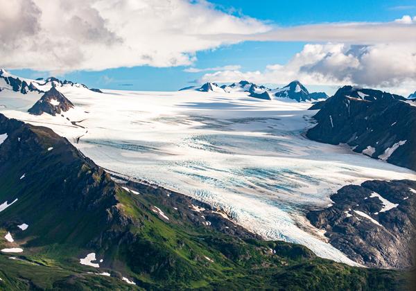 Caldera Grewingk Glacier Aerial Photography Art | Eric Hatch