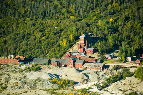 Alaska Aerial Kennicott Mine Mc Carthy Ak Photography Art | Eric Hatch