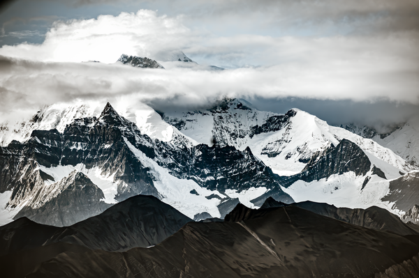 Rugged Alaska Mountains From The Air Photography Art   Eric Hatch