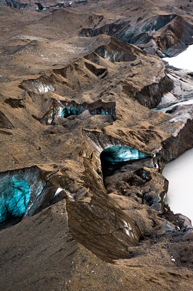 Aerial Glacial Tunneling Mc Carthy Ak Photography Art   Eric Hatch