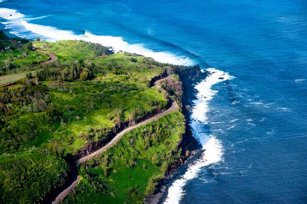 Aerial Maui Highway  Photography Art   Eric Hatch