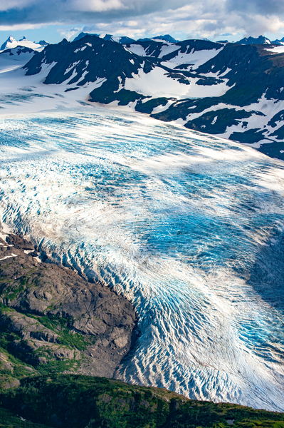 Portlock Glacier Aerial Photography Art | Eric Hatch
