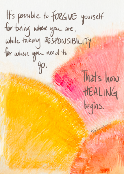 How healing begins - spontaneous watercolor piece