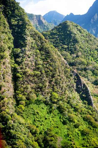 Aerial Maui Mountains Iao Valley Area  Photography Art   Eric Hatch