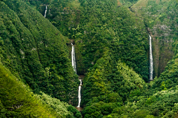 Moloklai Waterfalls Aerial Hi Photography Art   Eric Hatch