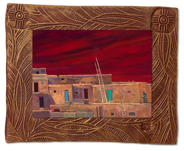 Taos Pueblo | New Mexico Collection Art | KenarovART Inc