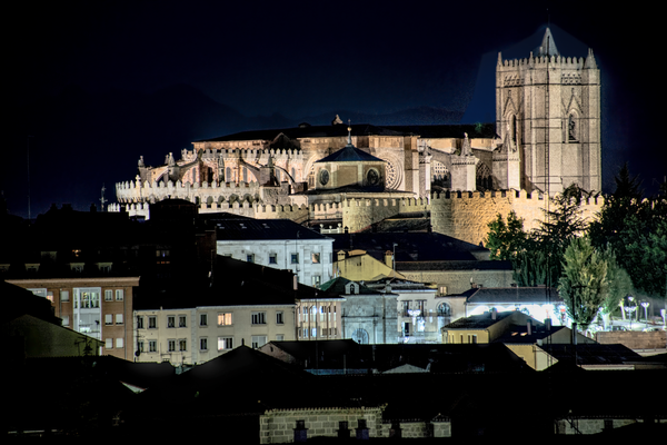Spanish Cathedral By Night, Avila, Spain Photography Art | Eric Hatch