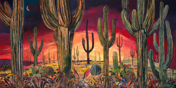 Saguaro Desert/Art On Paper Art | KenarovART Inc