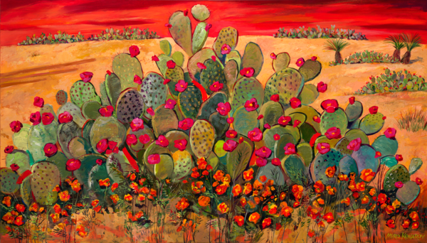 Blooming Desert/Art On Paper Art | KenarovART Inc