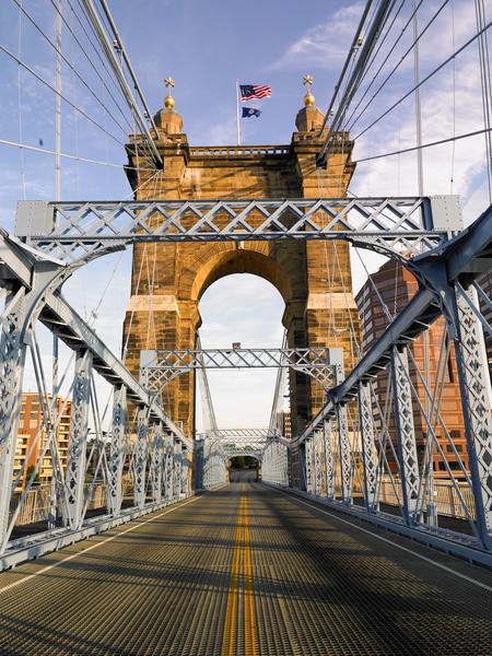 Roebling Suspension Bridge Looking Towards Cincinnati Photography Art | Eric Hatch
