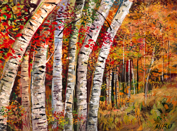 Dancing Aspens/Art On Paper Art | KenarovART Inc