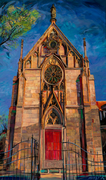 Loretto Chapel/Art On Paper Art | KenarovART Inc