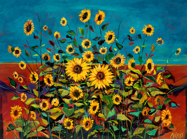 Wild Sunflowers/Art On Paper Art | KenarovART Inc