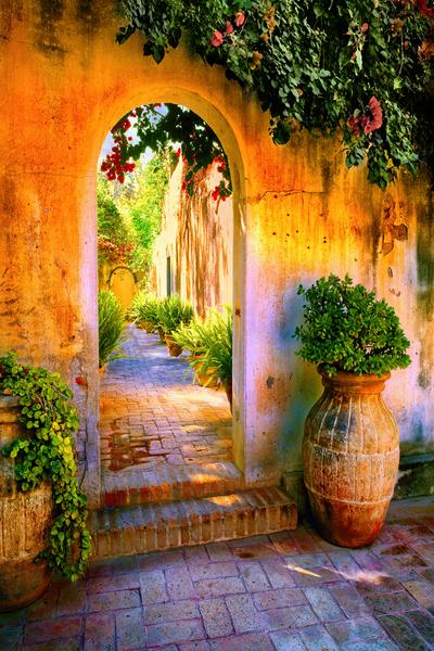 Art Print San Miguel de Allende Mexico Arch Passage Way