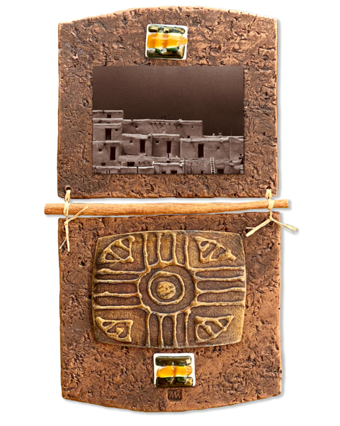 Taos Pueblo/Mixed Media Art | KenarovART Inc