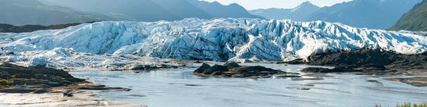 Matanusa Glacier Front Face 4 X1 Panorama Photography Art | Eric Hatch