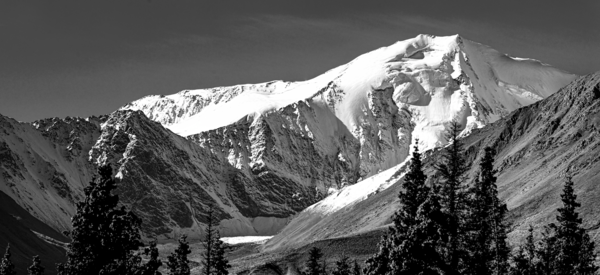 Canadian Mountain Pano Bw Photography Art | Eric Hatch
