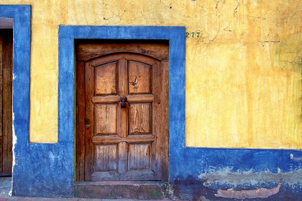 Art Print Tlaquepaque Mexico Borders and Door