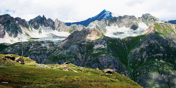 High Pass French Alps Pano Photography Art | Eric Hatch
