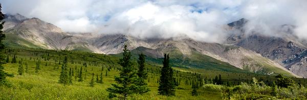 East Range Mountains Denali Pano Photography Art | Eric Hatch