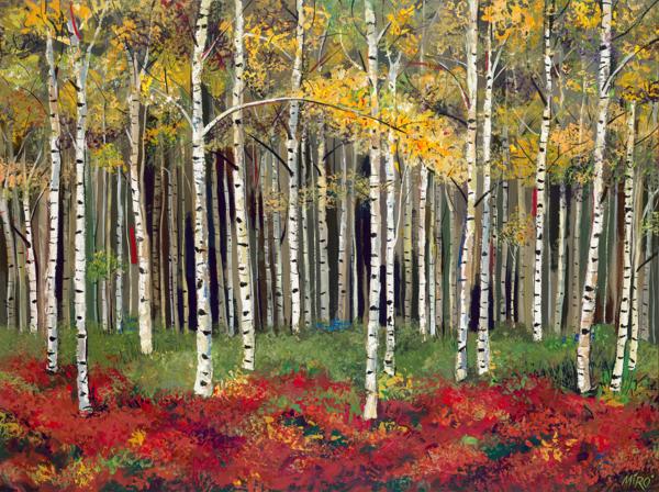 Aspen Forest/Art On Canvas Art | KenarovART Inc